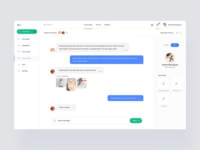 Chat app 💬 ux ui conversation chat messages app