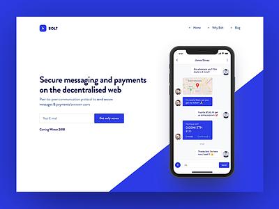 Bolt messenger app messages chat conversation ui ux