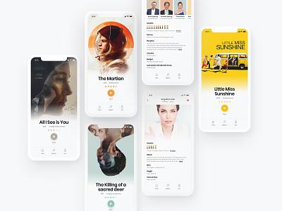 Movie Explorer 🎥 film movie app movie minimalistic minimal app ui
