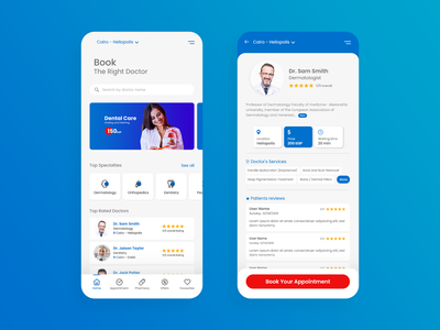 Doctors Booking app