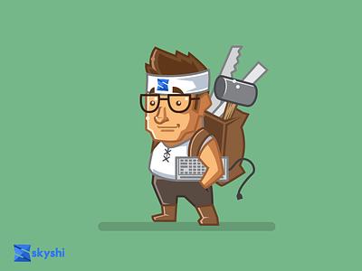 Skyshi Backend Builder icon vector logo illustration