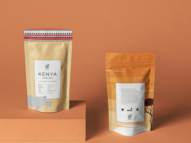 Coffee roasters branding branding kenya coffee graphic design mockup illustration