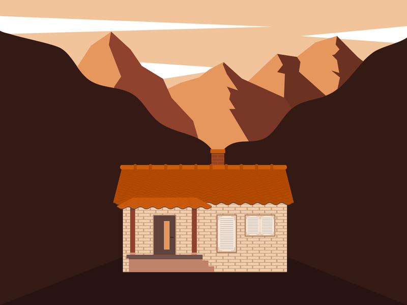 Small house house graphic design illustrator flat design design illustration