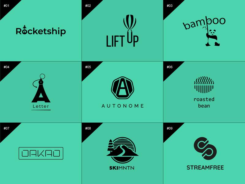 50 days logo challenge 1-9 branding graphic design design illustration dailylogochallenge 50 days logo challenge logotype logo