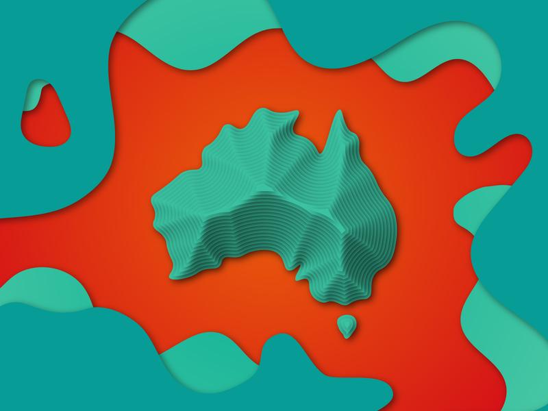Paper cuts digital cutout illustrator papercut flat design gradient graphic design illustration
