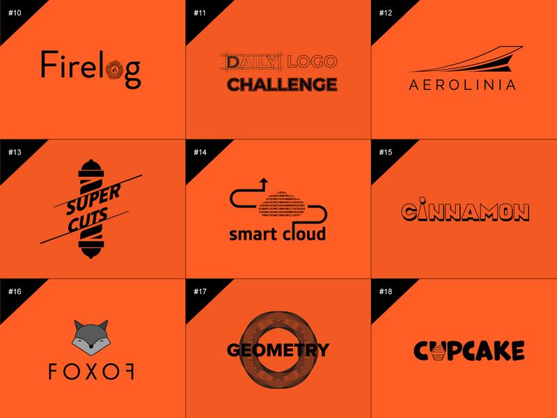 50 days logo challenge 10-18 branding flat design illustration graphic design logo design 50 days logo challenge