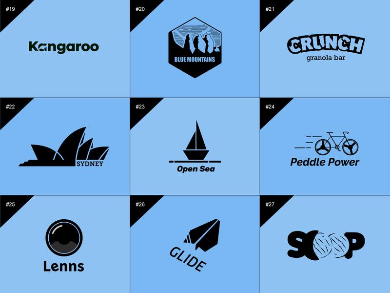 50 days logo challenge 19-27 branding illustraion design logo 50 days logo challenge graphic design