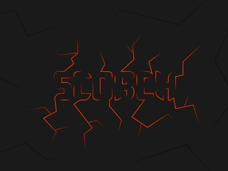 Scorched type digital art type graphic design flat design illustration