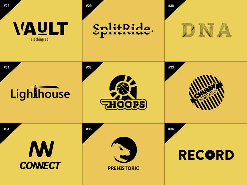 50 days logo challenge 28-36 digital art dailylogochallenge flat design 50 days logo challenge graphic design illustration design branding logo