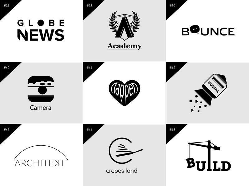 50 days logo challenge 37-45 digital dailylogochallenge 50 days logo challenge branding illustrator logo flat design graphic design