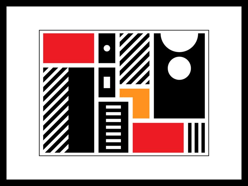 Variety contrast digital art variety composition illustration flat design graphic design