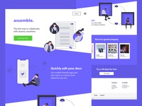 Collaboration SaaS homepage design