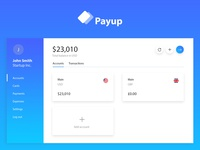 Web app design for a challenger business bank