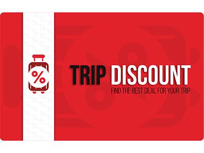 Discount card for Trip Discount discount card discount typography graphicdesign design
