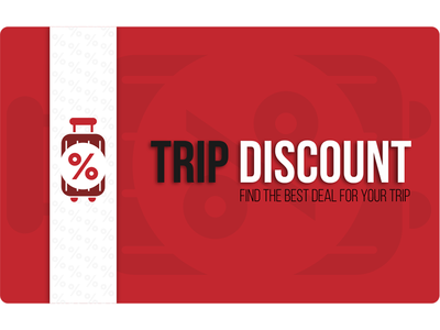 Discount card for Trip Discount discount card discount typography graphicdesign design