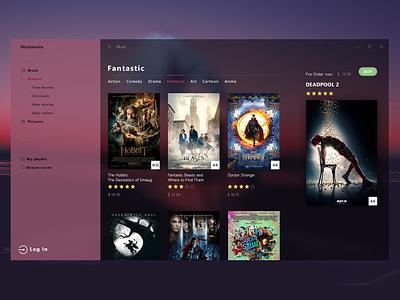 Interface for Movie Shop web design ux ui user experience user interface design user interface userinterface design