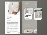 App mobile design for Decor shop