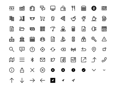 PEY Iconset minimal line icons wip