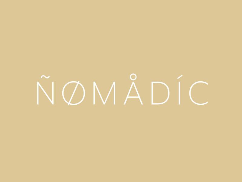 Nomadic Logo Concept language glyphs typography design logo