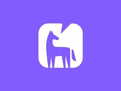 Horse Analytics Logo flat icon app horse design logo brand