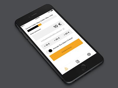 Bitbuy minimal icons design user interface app bitcoin