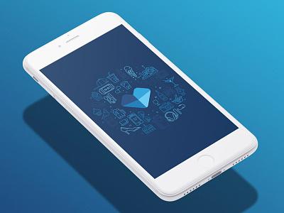 Favio App illustration ui screen loading app