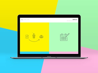 Reprint graphic design icon design web design
