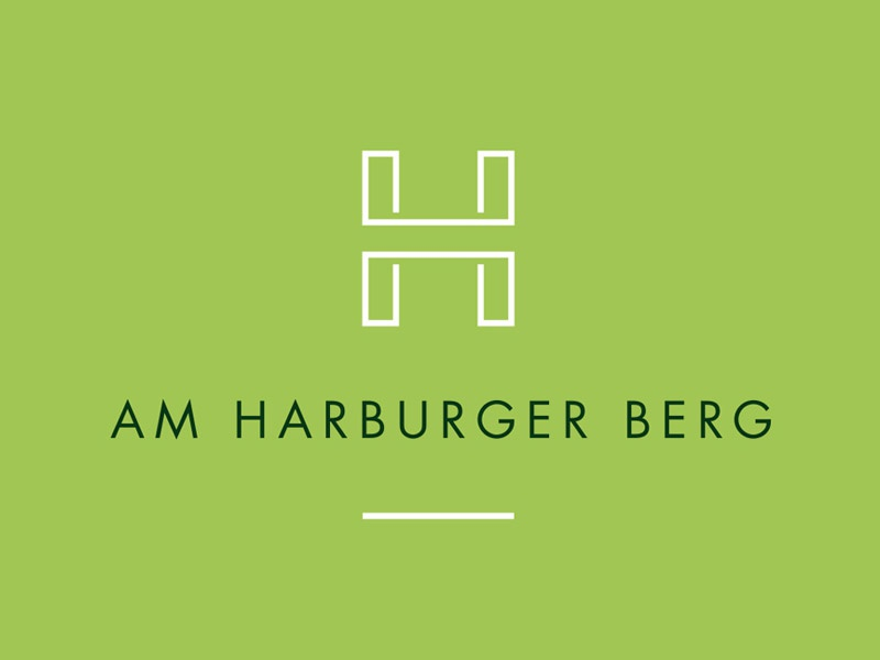 Am Harburger Berg minimal h logo design
