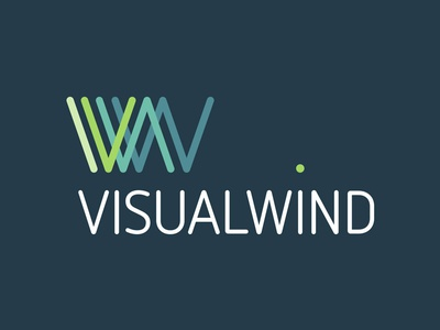Visual Wind lines w logo design