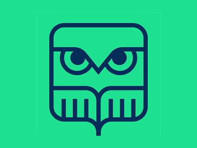 OWL Startups icon minimal line marker owl logo design