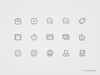 Icon Set icon set outline flat ios