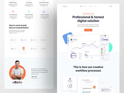 Beyonds Digital Agency agency website agency beyonds webdesign web homepage design branding web design landing page homepage website turjadesign dribbble