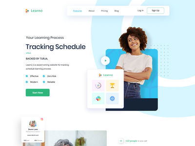 Learno Ui agency landing page landing page design uidesign website design web design design homepagedesign webdesign agency website homepage design branding landing page homepage website turjadesign dribbble