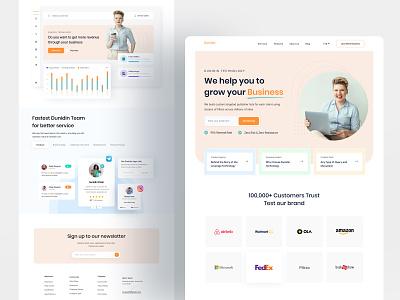 Dunidin Website Design 2020 designing design agency homepagedesign homepage design branding webdesign landing page homepage website turjadesign dribbble