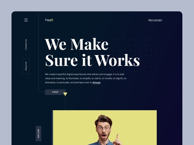 FLAQO Web Exploration 2021 website concept homepagedesign homepage design branding webdesign landing page homepage website turjadesign dribbble