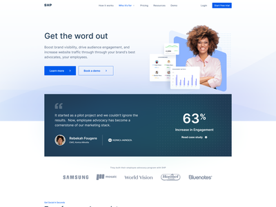 SHP Landing Page Live 2021 mobile design digital solution shp web website builder website concept websites agency website website design dribbble webdesign homepage website turjadesign web design branding homepage design landing page