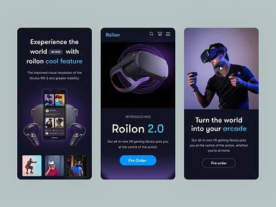 Roilon VR 2021 vector design website concept website design vray vr productdesign product web design webdesign agency website landing page homepage branding homepage design dribbble website turjadesign