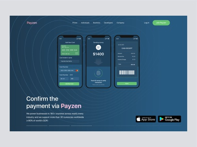 Payzen Crypto Header Exploration crypto wallet cryptocurrency web ui payment agency website logo website design web design homepagedesign webdesign dribbble homepage design homepage landing page turjadesign