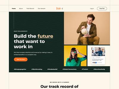 Ital- Homepage Design 2021 brand graphic design