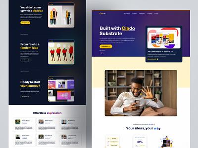 Cia-do Homepage Design 2021 branding motion graphics graphic design 3d animation logo illustration design webdesign dribbble website homepage design homepage landing page turjadesign