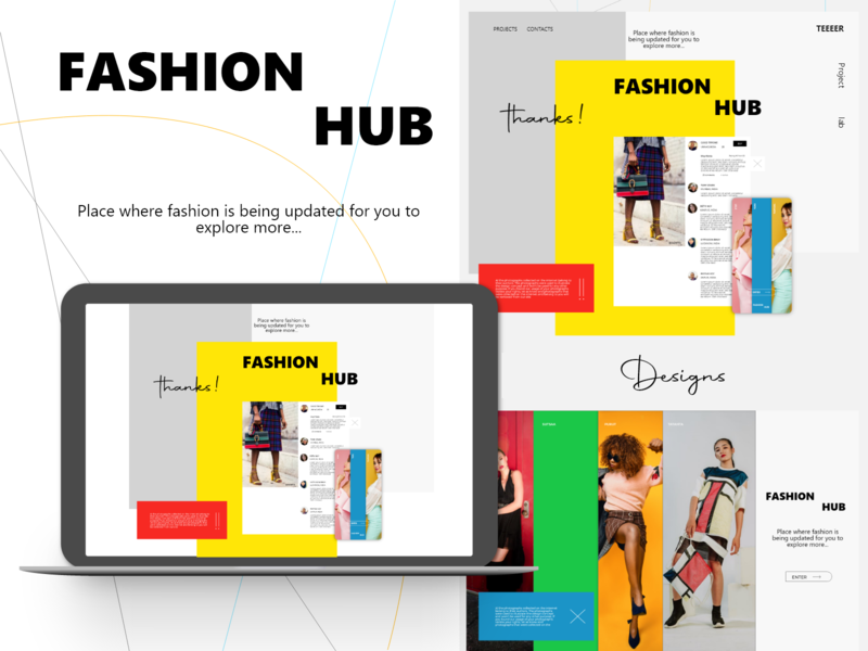 TEEEER - Fashion Hub fashion brand mockup adobe xd color trends design art arrow fashion website design app icon website ui ux vector flat logo illustration branding design
