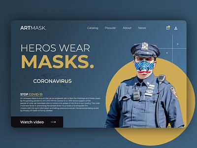 Heros wear MASKS days lockdown gocoronago stop wear heros masks covid-19 coronavirus corona typography ux minimal animation web icon ui illustration branding design
