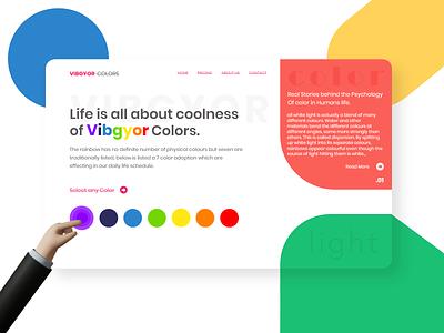 VIBGYOR COLOR creative color theory human life psychology theory vibgor color web website illustrator ui logo ux vector illustration branding design