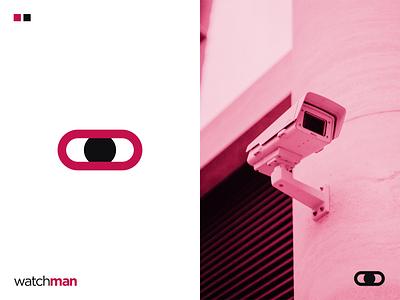 watchman | CCTV Logo Design | Brand Identity minimal web app cctv logo security logo iconography icon logodesign design illustration 3d logo graphic design logos logomark brand identity logo design logotype branding