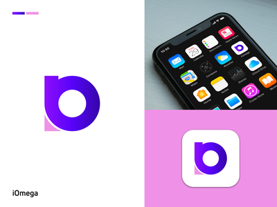 iOmega | Logo & Brand Idenity design illustration modern logo flat minimal minimalist logo bestlogo logotrends icon app logo logodesign logos logomark brand identity logo design logotype branding