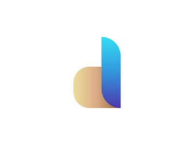 D Letter Logomark   Logo & Brand Identity minimalist logo modern logo best logo app d logomark d letter logo minimal flat ui logo illustration design logodesign logos logomark brand identity logo design logotype branding
