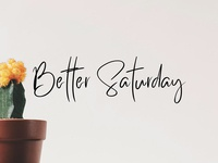 Better Saturday - free classy typeface