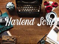 Harlend - Free Retro Script Font