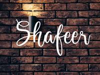 Shafeer - free shine script font