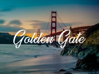 Golden Gate - Free striking handwritten font